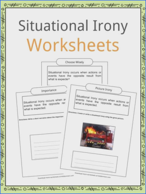 Dramatic Irony Worksheets Examples & Definition For Kids