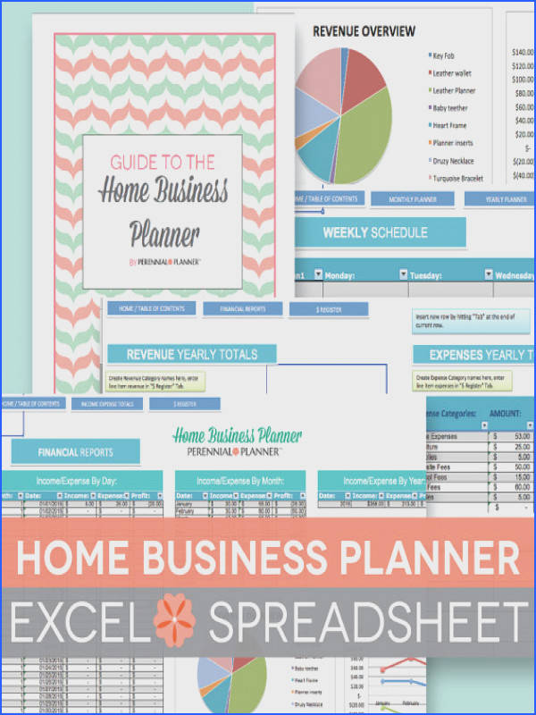 Home Business Planner Excel Spreadsheet 2015 2016 Finally an all in one home