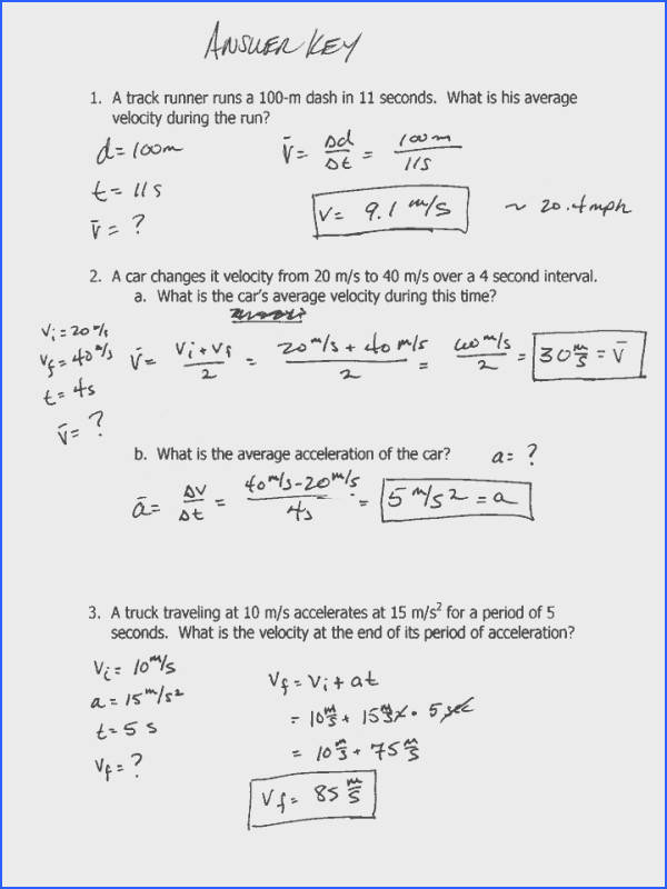 Horizontal Projectile Motion Worksheet Worksheets for all Download and Worksheets