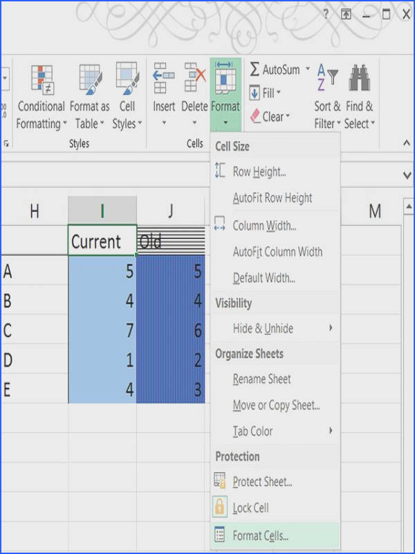 How Do I Add a Background Color or Pattern to Excel Cells