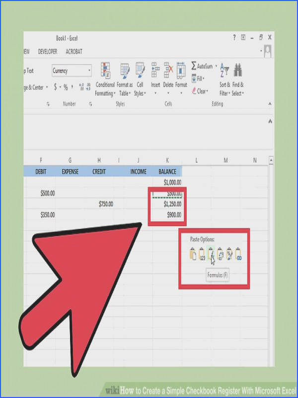 Image titled Create a Simple Checkbook Register With Microsoft Excel Step 12