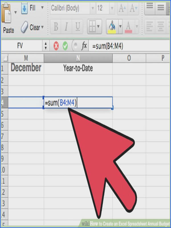 Image titled Create an Excel Spreadsheet Annual Bud Step 8