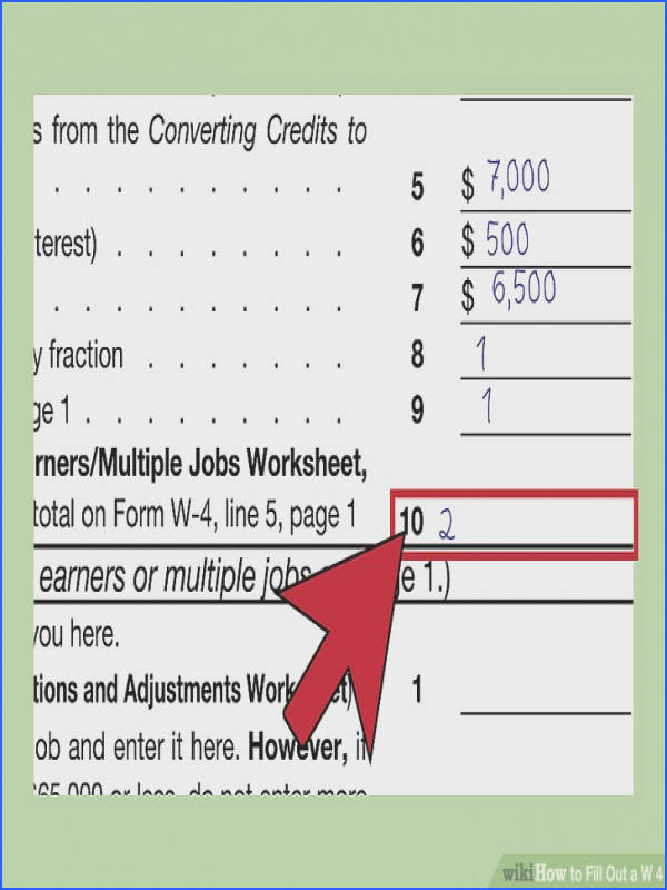 How to Fill Out A W‐4 with Wikihow Image Below Credit Limit Worksheet