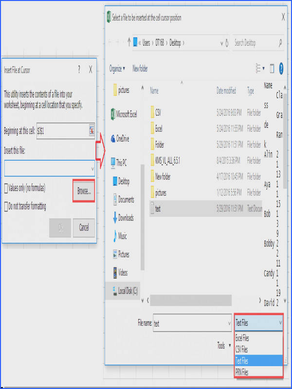 doc import text files from a folder 4