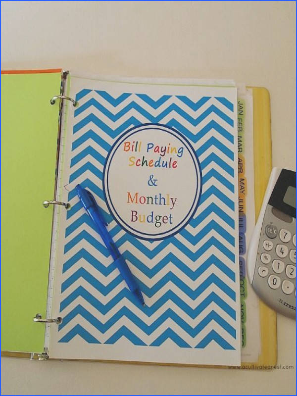 Home Sweet Frugal Home Making A Bud Binder and A List of Free Printable Financial