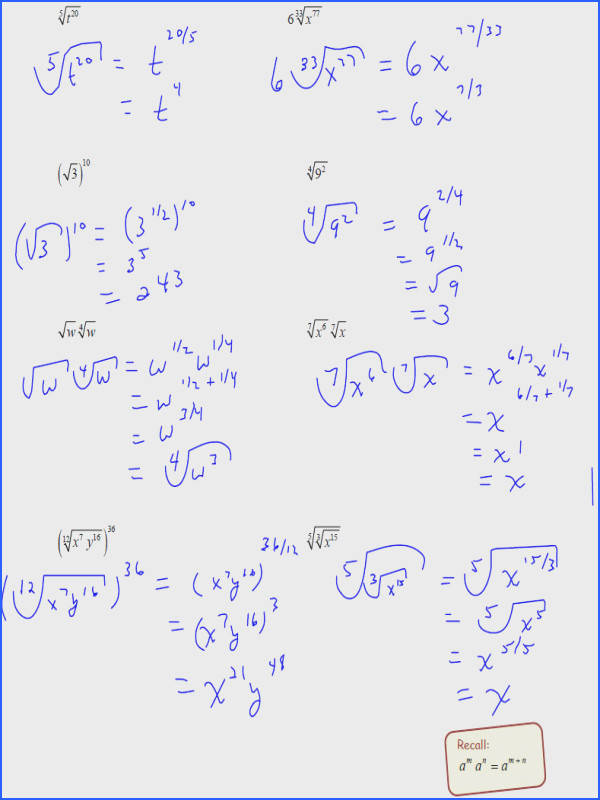 How To Solve Quadratic Equations With Fraction Exponents