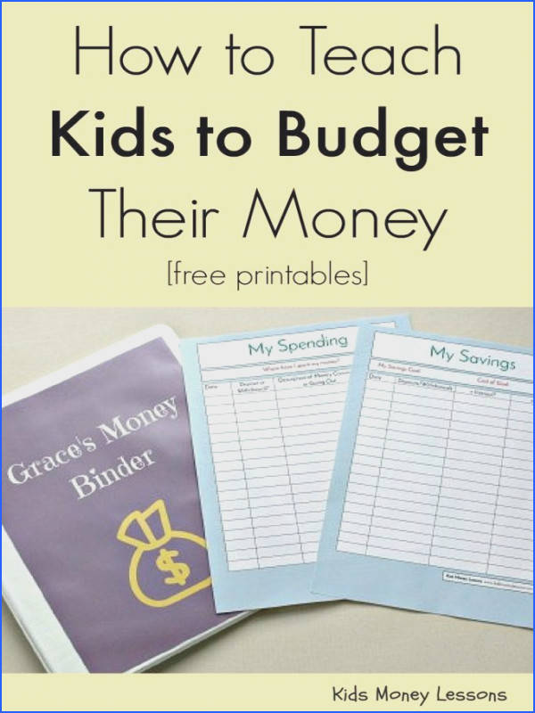 How to Teach Your Kids to Bud Their Money [with free bud ing worksheets for kids
