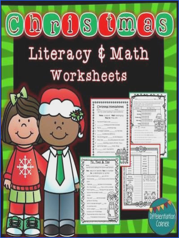 hristmas Literacy and Math Worksheets No Prep Printables This worksheet pack includes a wide variety of