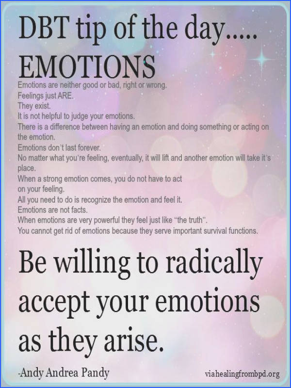 DBT tip on emotional regulation