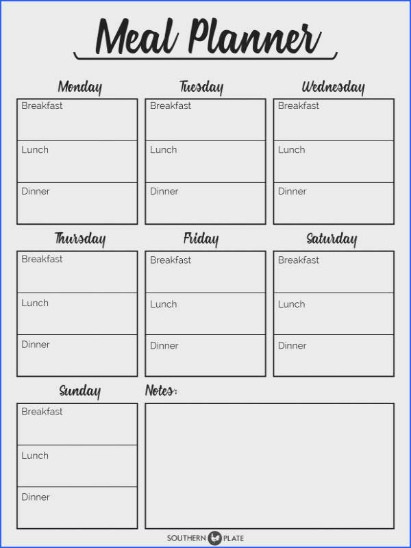 I m happy to offer you this free printable Meal Planner here to