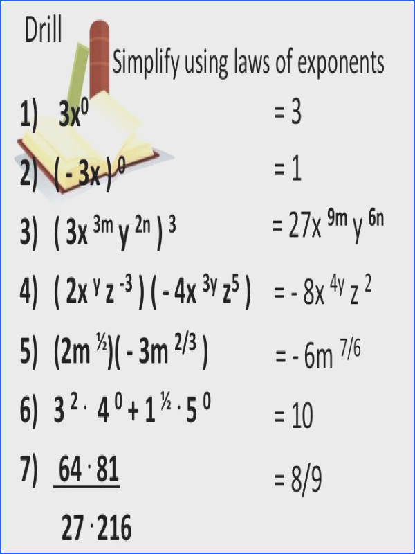 Image result for exponent worksheets