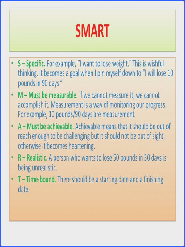 Image result for mental health smart goals examples