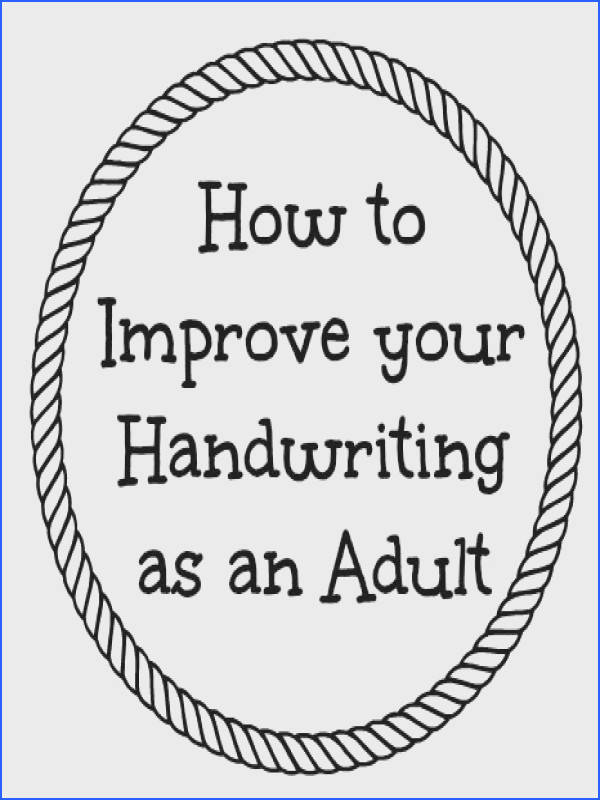 Improve Handwriting Worksheets Adults Worksheets for all Download and Worksheets