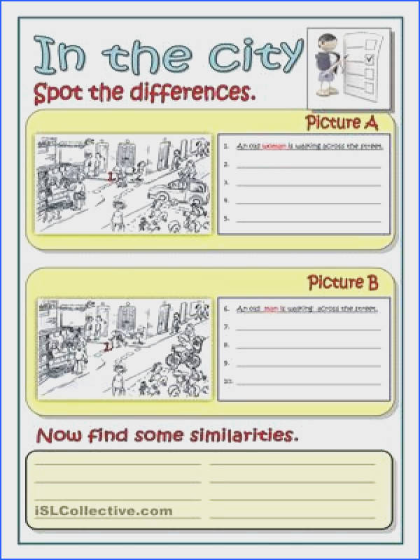 IN THE CITY worksheet Free ESL printable worksheets made by teachers