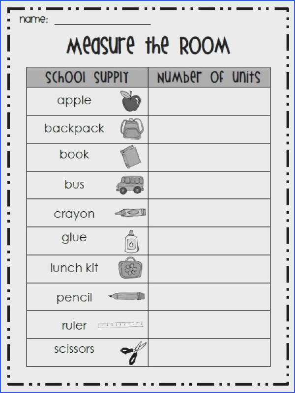 Inches Worksheet