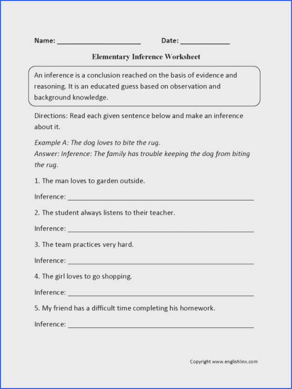 Making Inferences Worksheets Mychaume Com