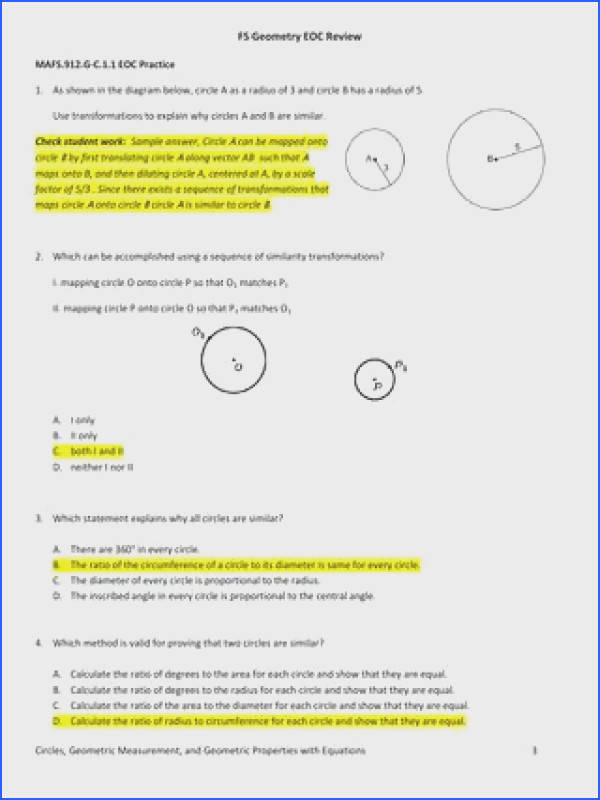 Inscribed Angles Worksheet | Mychaume.com