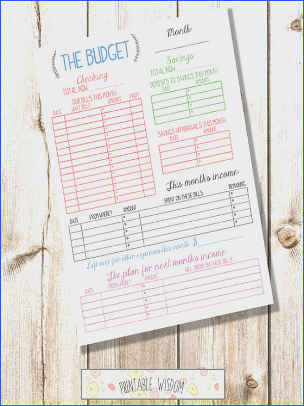 INSTANT DOWNLOAD printable bud planner organizer monthly diy pdf jpeg template family bud Printable Wisdom