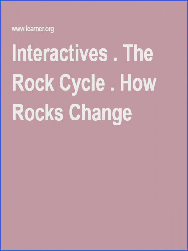 The Rock Cycle How Rocks Change