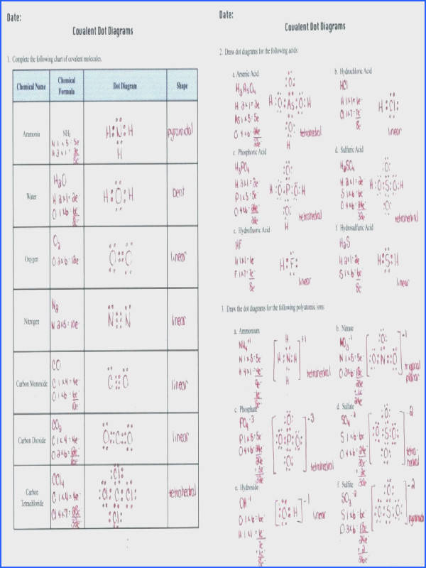 covalent bonding worksheet answers as well as specification links metallic