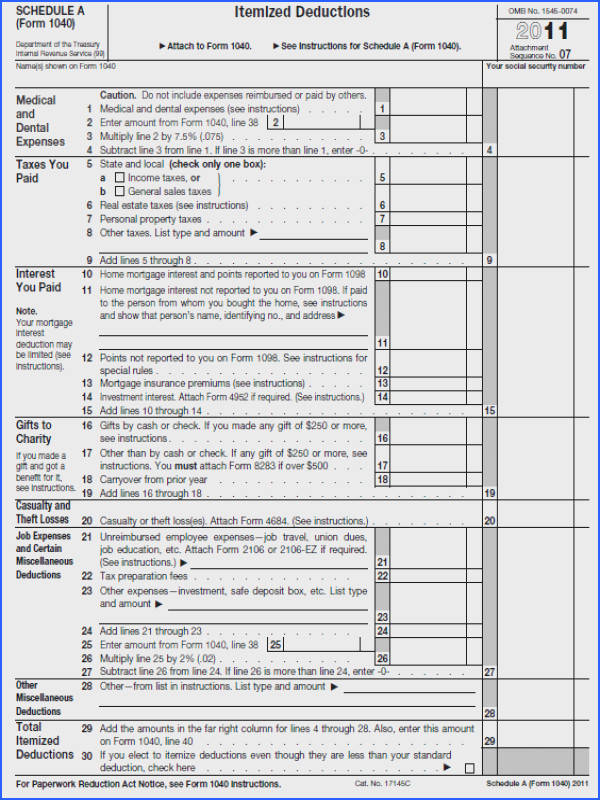 Itemized Deductions Worksheet Line 29 Worksheets for all Download and Worksheets
