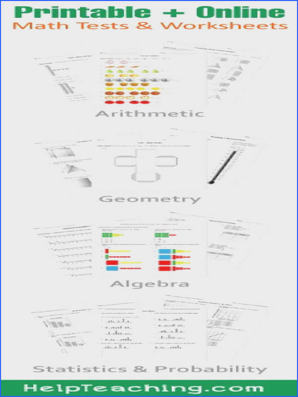 K 12 Math Tests and Worksheets for Printable or line Assessments Arithmetic Geometry