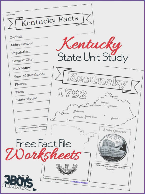 Pin1 Tweet 1 StumbleThese Kentucky State Fact File Worksheets are the perfect worksheets