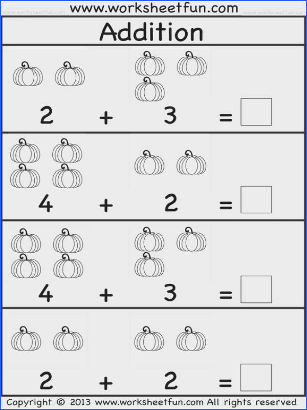 Kids Practice Adding Single Digit Numbers and Writing the Sums On Image Below Free Worksheets for Kids