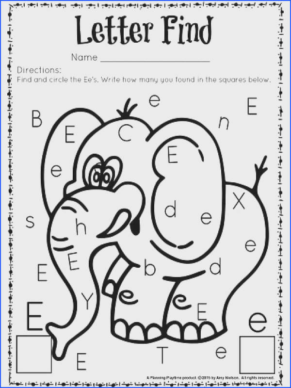 Letter E Worksheets For Kindergarten Worksheets for all Download and Worksheets