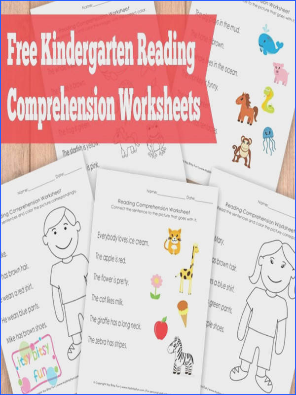 Literacy · Kindergarten Reading prehension Worksheets