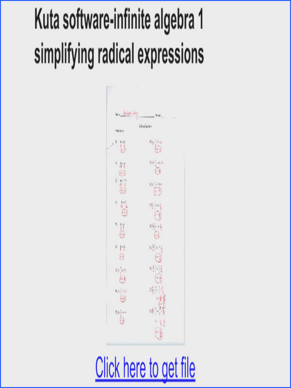 Kuta software infinite algebra 1 simplifying radical expressions Google Docs