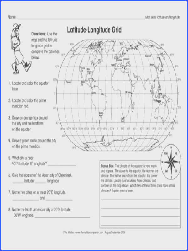 Latitude Longitude Grid Lesson Plans The Mailbox