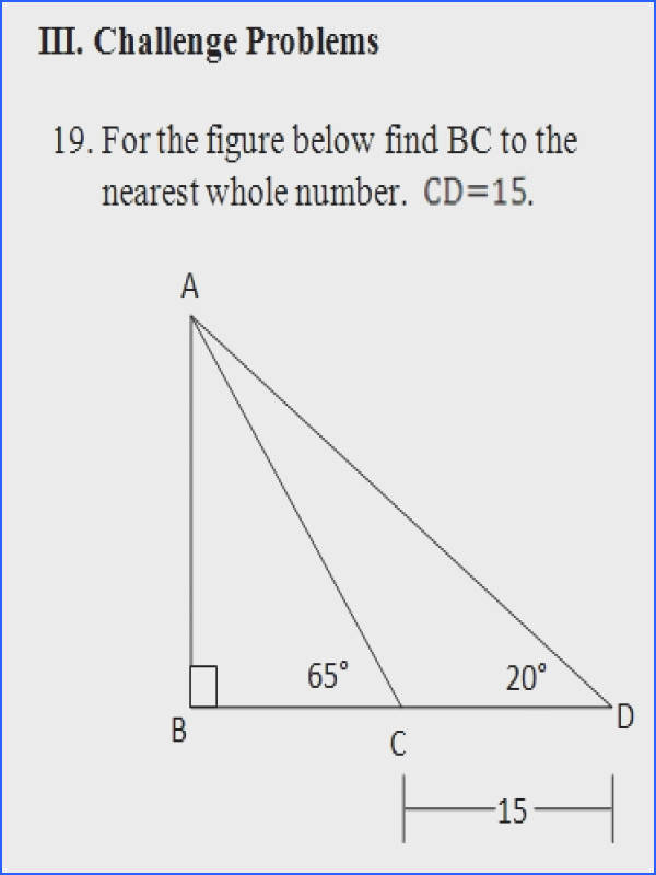 Challenge Worksheet problem