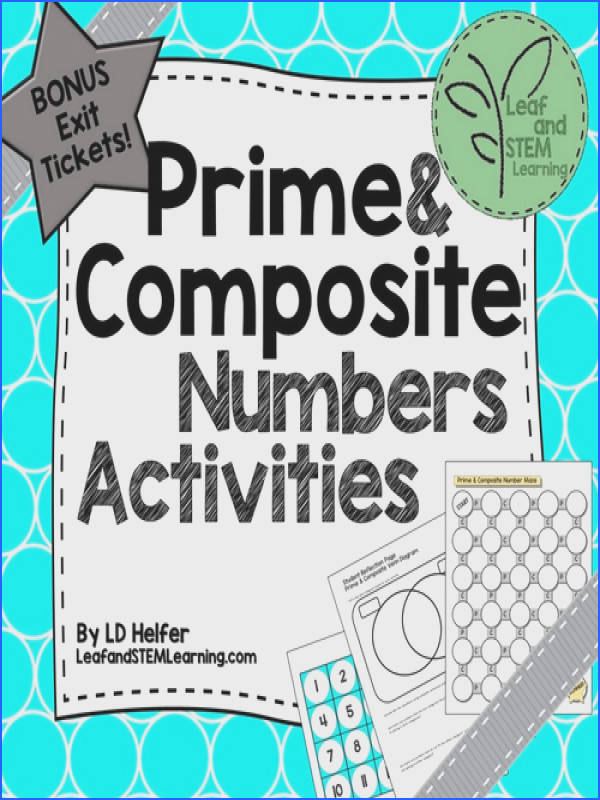 Prime and posite Numbers Math Centers with Exit Tickets