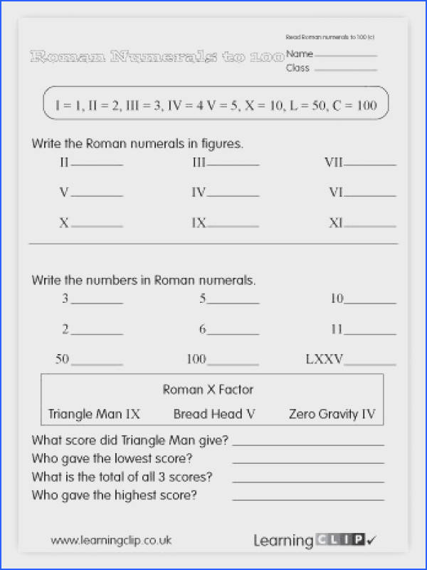 Learn Roman Numerals Worksheet Worksheets for all Download and Worksheets