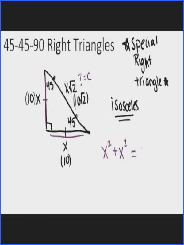 Right Triangles Principles