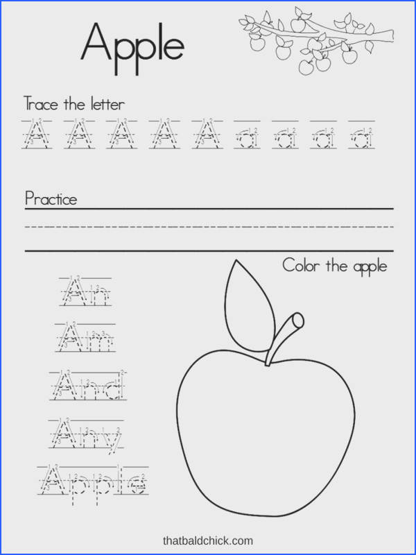 Lette A free printable · Writing Practice WorksheetsAlphabet