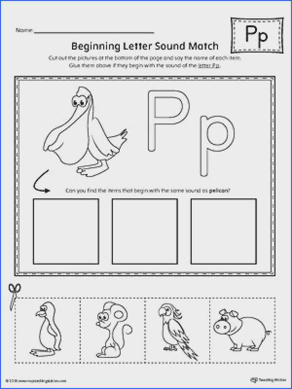 Letter P Beginning Sound Picture Match Worksheet Worksheet In this worksheet your child will