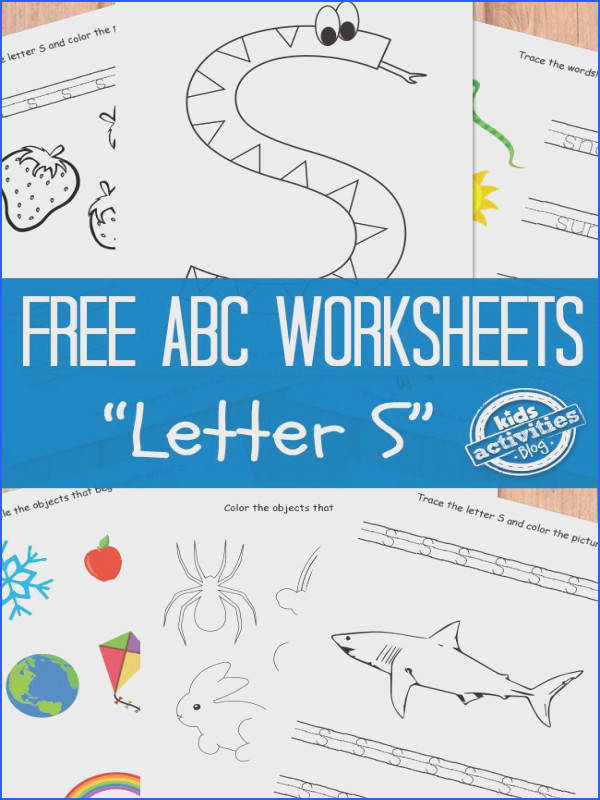 Letter S Worksheets