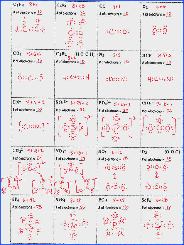 Lewis Dot Structure Worksheet With Answers Worksheets for all Download and Worksheets