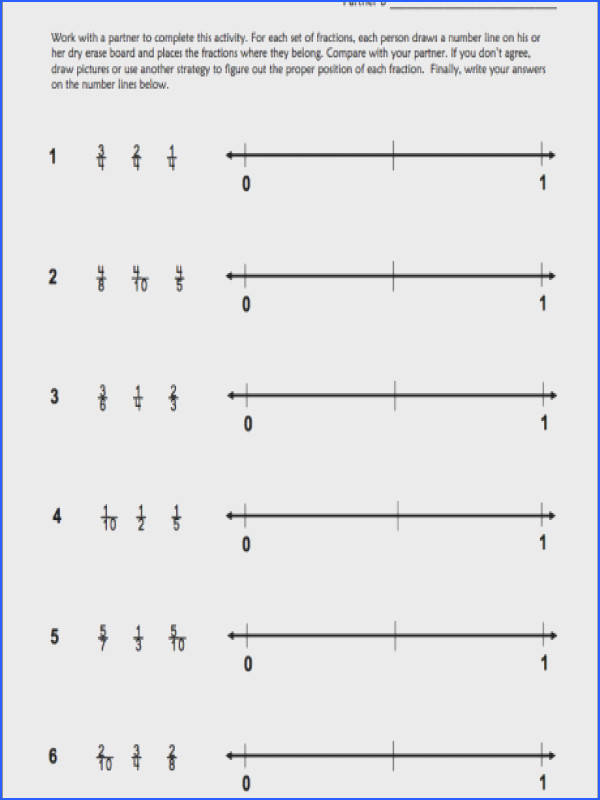 free ordering fractions on a number line printable 8a15c41eacd9df c7f82 a part of under Math Worksheet