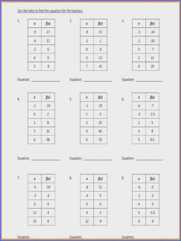 function tables worksheets graphing linear large 4 function tables worksheets
