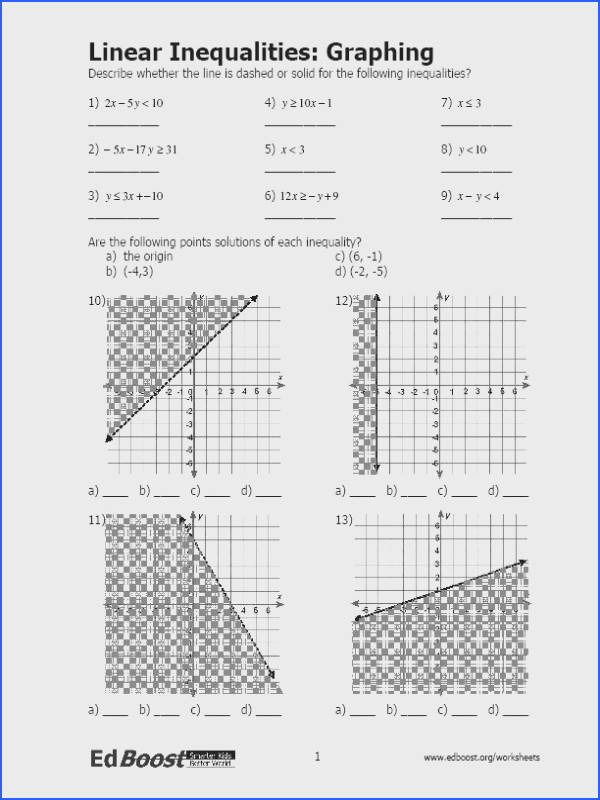 Linear Inequalities Graphing