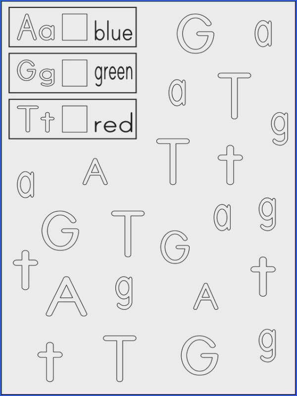 Link to Letter Recognition Worksheets Color the boxes next to the letters with the appropriate