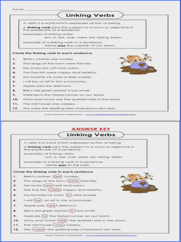 "This Is An Excellent Basic Grammar Activity For An English Language Arts Lesson """"sc"" 1""st"" ""Super Teacher Worksheets"