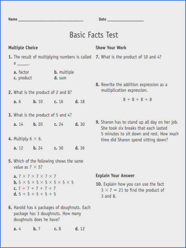 Ex&le Long Multiplication Worksheets