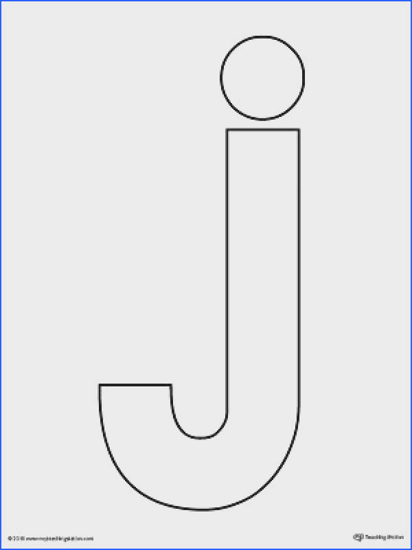 Lowercase Letter J Template Printable