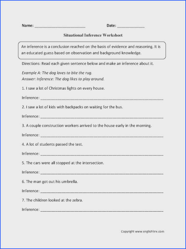 "Making Inferences Worksheets & """"sc"" 1""st"" ""education Image Below Making Inferences Worksheets"