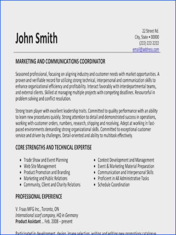 Marketing and munications Coordinator resume template Want it Download it