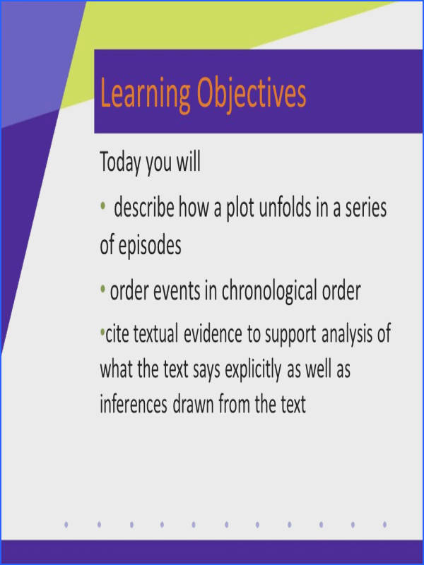 7 Learning Objectives
